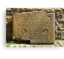 ancient gravestone Canvas Print