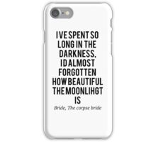The corpse bride, so long in the dark iPhone Case/Skin