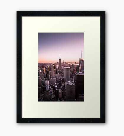 I went to new york to be born again Framed Print