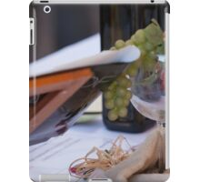 glass on table at restaurant iPad Case/Skin