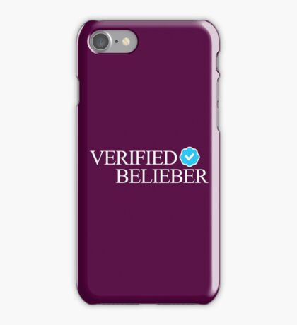 VERIFIED BELIEBER IPHONE CASE iPhone Case/Skin