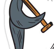 Emperor Penguin Holding Shovel Drawing Sticker