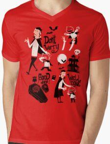 Dracula and Son Mens V-Neck T-Shirt