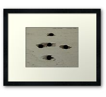 Hole in the wall Framed Print