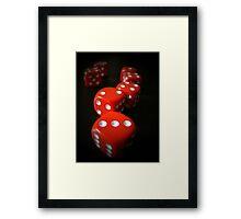 24 Red Framed Print