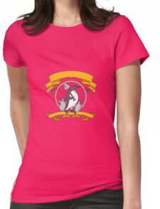 Penguin Shovel Chick Dreamcatcher Drawing Womens Fitted T-Shirt