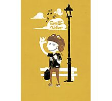 Smile and Wave Photographic Print