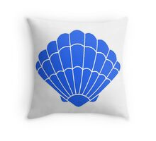 Mermaid Shell Blue Throw Pillow