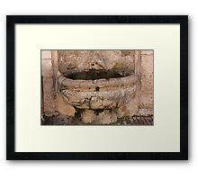 old fountain Framed Print