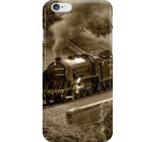 Southern 825 Locomotive (Sepia) iPhone Case/Skin