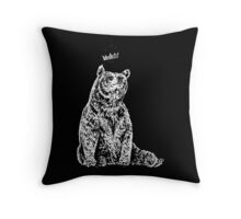 Bear with Crown Throw Pillow