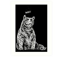 Bear with Crown Art Print