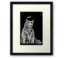 Bear with Crown Framed Print