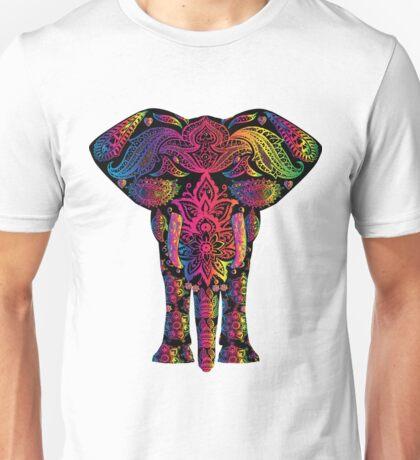 Colorful Rainbow Elephant Mandala Unisex T-Shirt