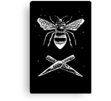 Bee and ink nibs Canvas Print