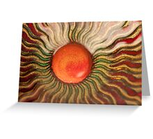 art glass background Greeting Card