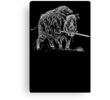 Commitment to your cause (boar and sword) Canvas Print