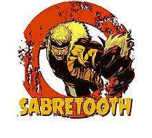 Sabretooth •X-men Comic Book Photographic Print