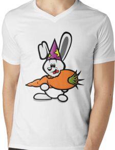 HeinyR- White Magic Rabbit Mens V-Neck T-Shirt
