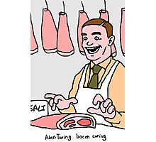 Alan Turing, bacon curing. Photographic Print