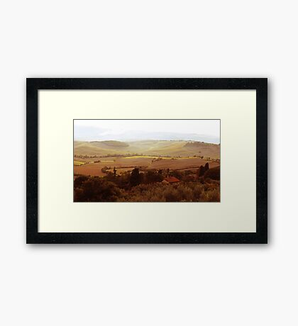 abstract hilly landscape Framed Print