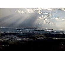 abstract hilly landscape Photographic Print