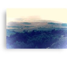 abstract hilly landscape Canvas Print