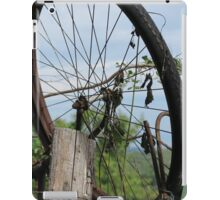old bicycle in the meadow iPad Case/Skin