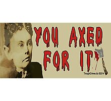 Lizzie Borden Photographic Print