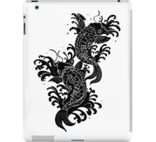 Koi Carp Tattoo - all black iPad Case/Skin