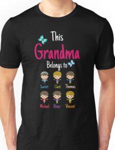 This Grandma belongs to Scarlett Clark Thomas Michael Peter Vincent Unisex T-Shirt