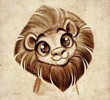 Doodles by David Kawena - Lion by David Kawena