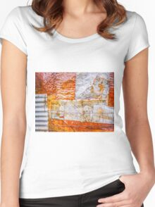 Aussie Corrugated Galvanised Iron #22 Women's Fitted Scoop T-Shirt