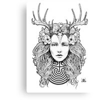 Horned Goddess by Juliana Loomer Canvas Print