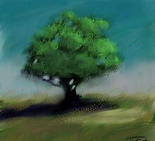 Lonely tree by Ivan Bruffa