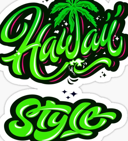 Hawail Style Island Resort Holiday Relax And Fresh Sticker