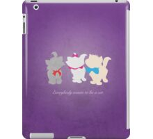 Aristocats inspired design. iPad Case/Skin