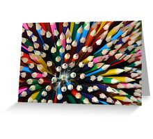 Coloured pencils Greeting Card