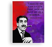 Groucho Marx Canvas Print