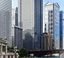 Chicago IL - Chicago River Near Wabash Ave. Bridge by Susan Savad