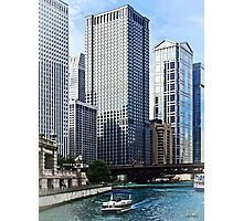 Chicago IL - Chicago River Near Wabash Ave. Bridge Photographic Print