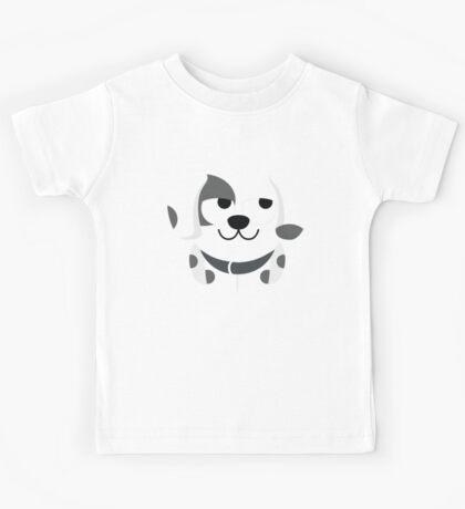 Dalmatian Dog Emoji Thinking Hard and Hmm Look Kids Tee
