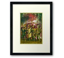 Samurai Space Guardians. Framed Print