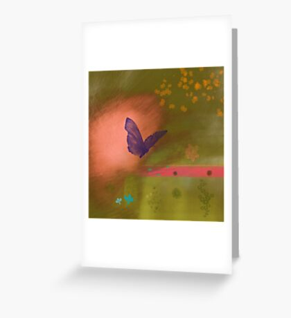Butterfly fields Greeting Card
