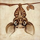 Doodles by David Kawena - Bat by David Kawena