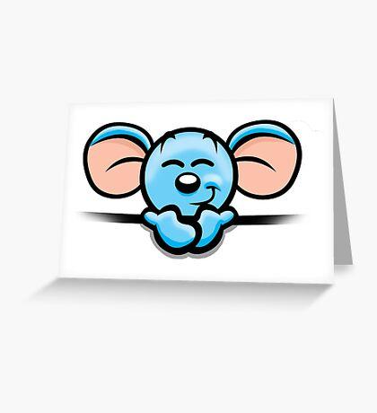 HeinyR- Blue Mouse Greeting Card