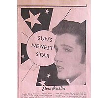 Elvis Presley, Sun's Newest Star, Rockabilly Photographic Print
