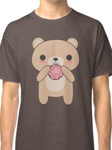 Cute and Kawaii Bear Eating A Donut Classic T-Shirt