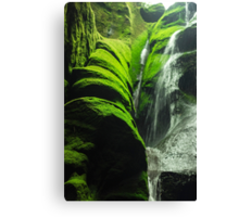 Mossy Waterfall - Nature Photography Canvas Print