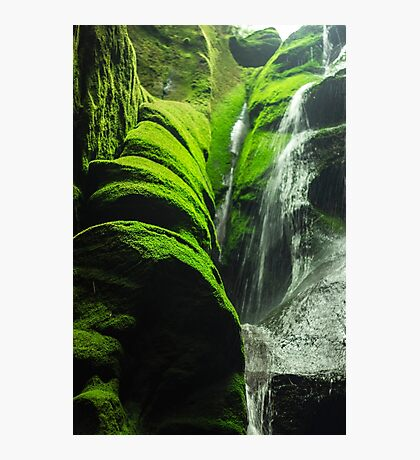 Mossy Waterfall - Nature Photography Photographic Print